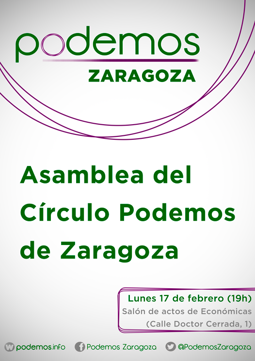 CartelCírculos_PodemosZaragoza_Asamblea2