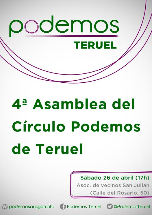 CartelCírculos_PodemosTeruel_Asamblea4