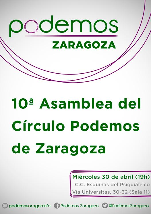 10ª Asamblea Círculos Podemos Zaragoza