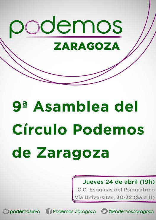 9ª Asamblea del Circulo Podemos de Zaragoza