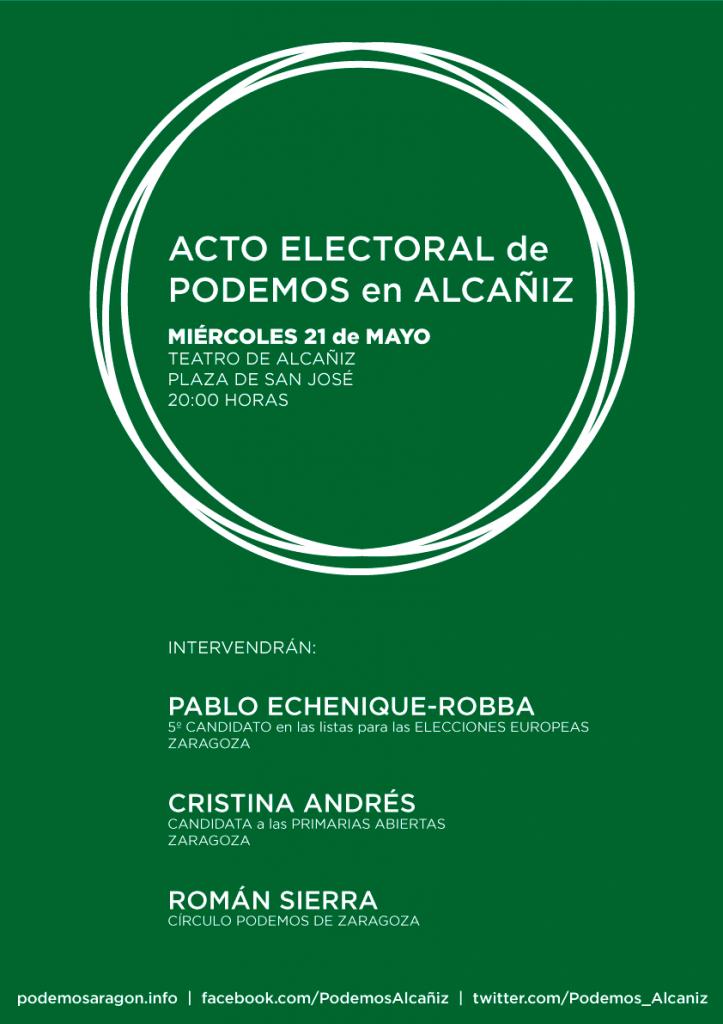 CartelMitin_PodemosAlcañiz_Verde