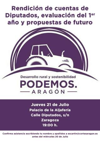 Reunión Cortes - Podemos Desarrollo Rural y Sostenibilidad