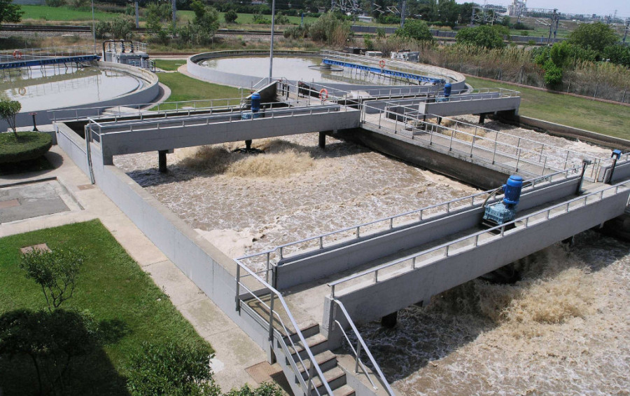 Depuradora de l'Almozara. Foto: Ayuntamiento de Zaragoza.