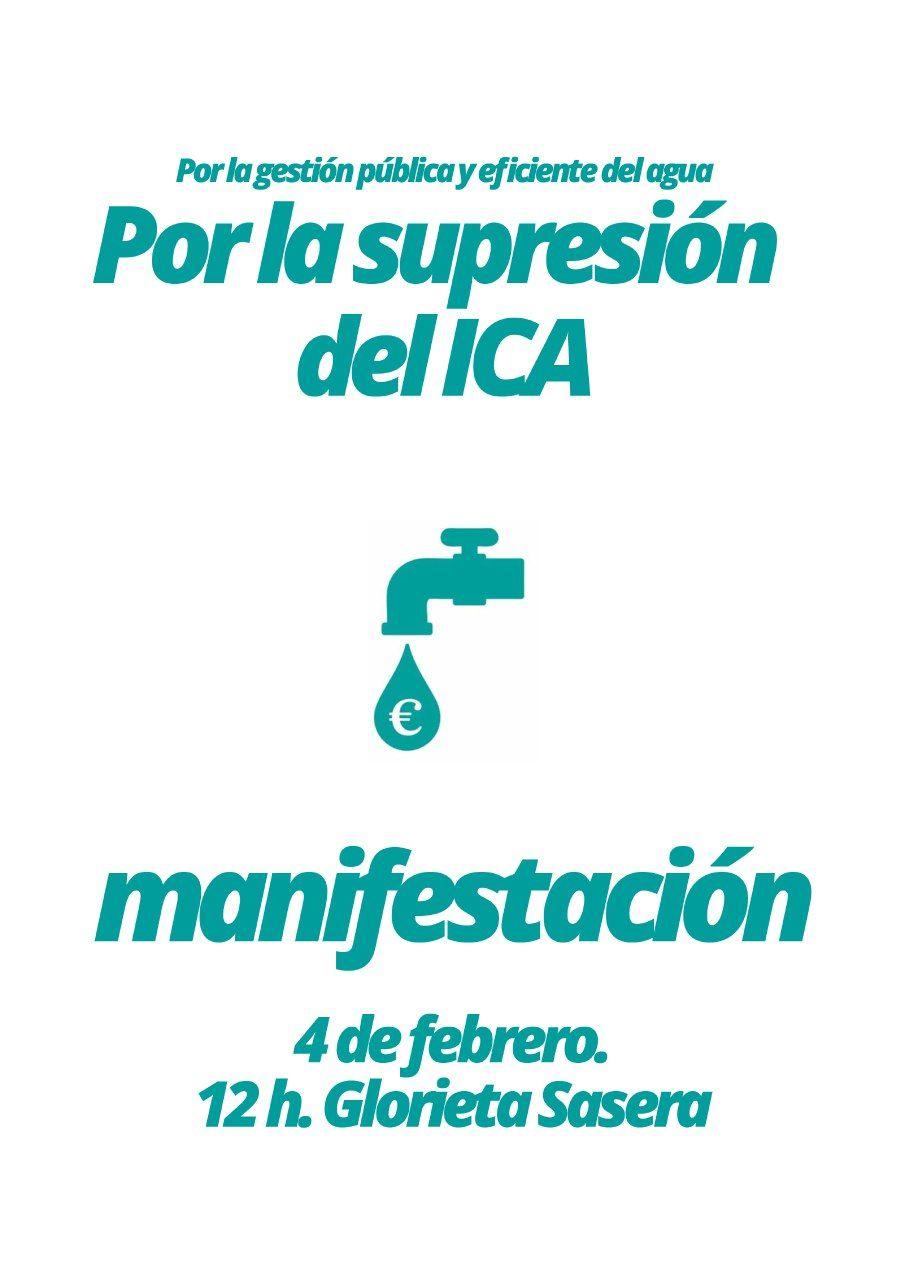 Manifestación contra el ICA