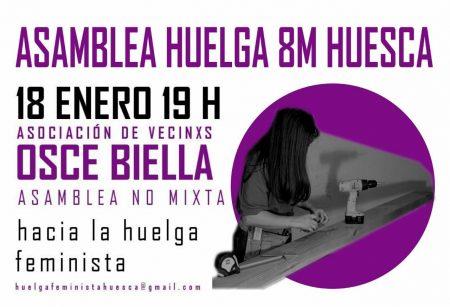 Asamble Huelga feminista 8M Huesca