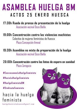 Asamblea Huelga 8M Huesca