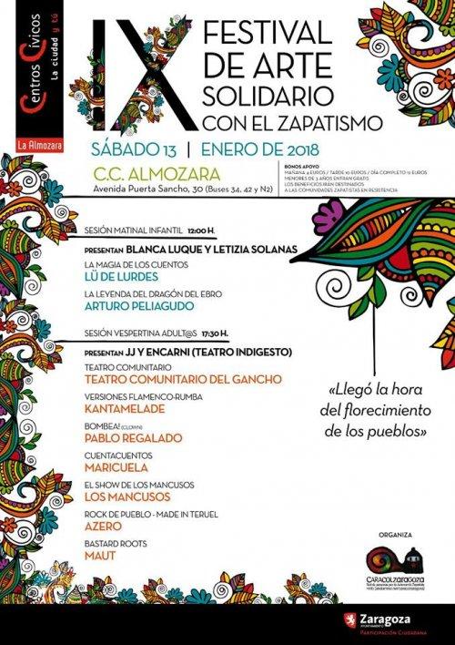 IX FESTIVAL DE ARTE SOLIDARIO CON EL ZAPATISMO