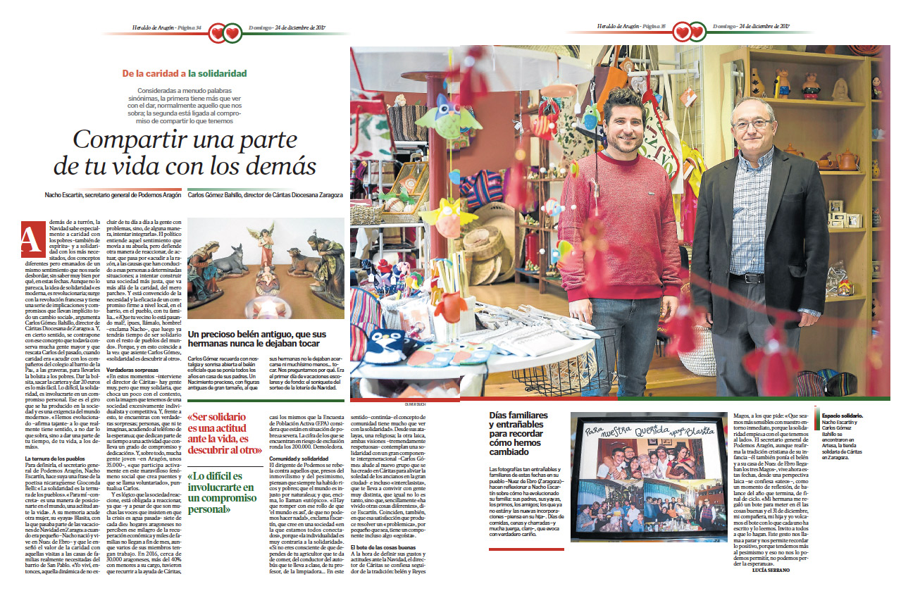 Nacho Escartin conversación Caritas
