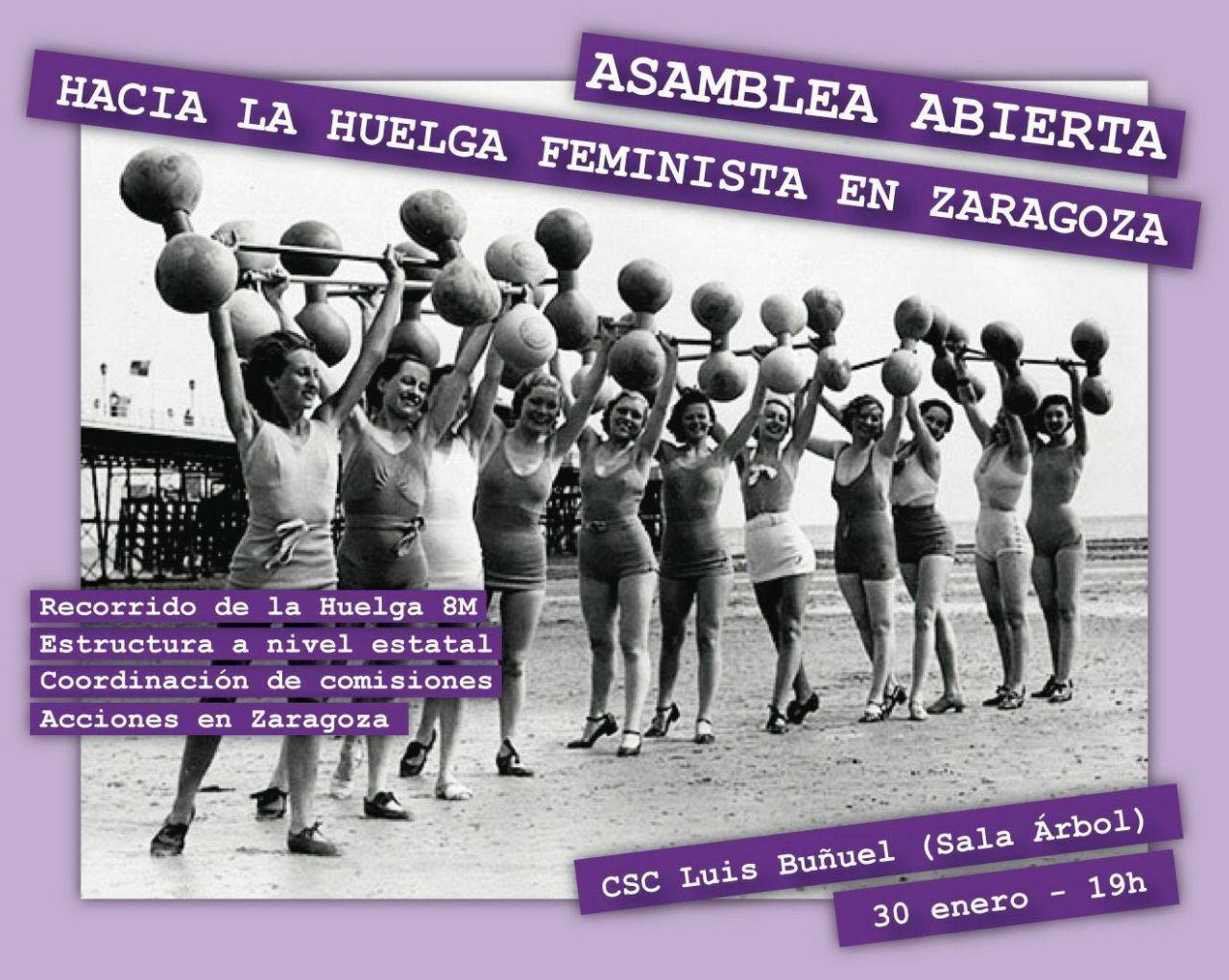 asamblea hacia la huelga feminista