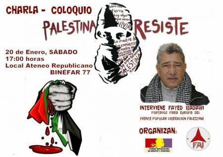charla coloquio Palestina