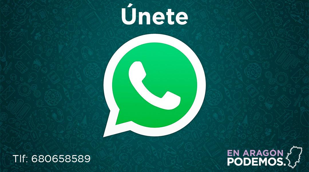 Únete a nuestro canal de Whatsapp