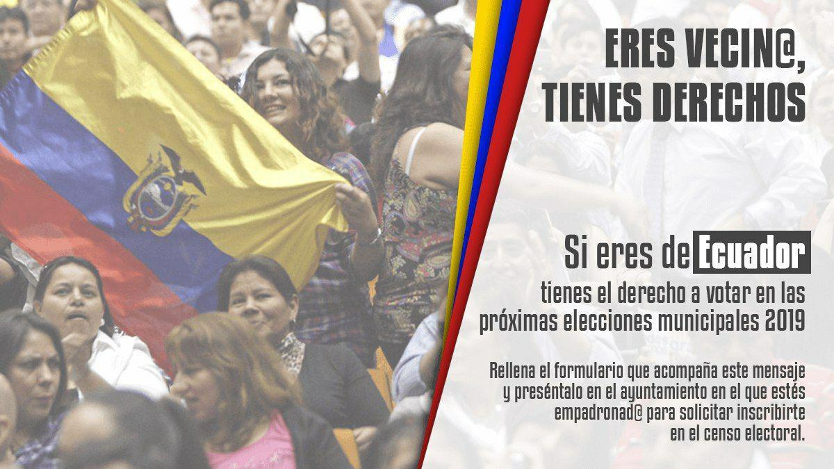Ecuador voto migrante