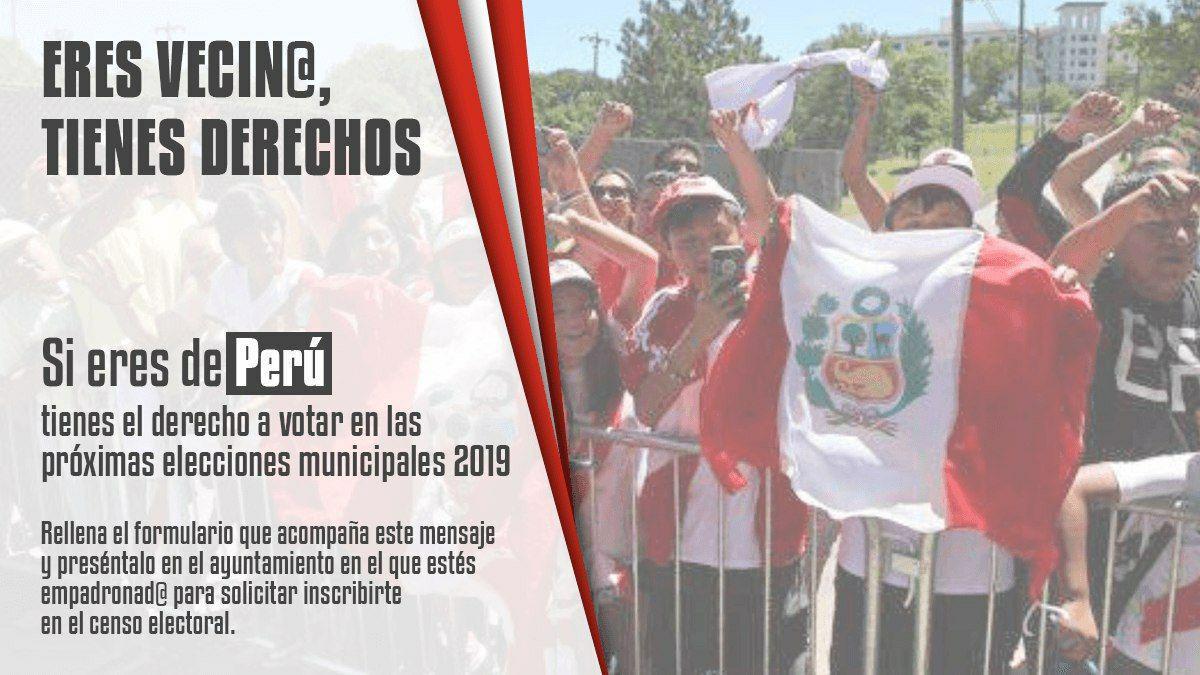 Perú voto migrante