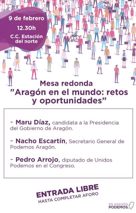 7ª Coordinadora de Podemos Aragón - Mesa redonda