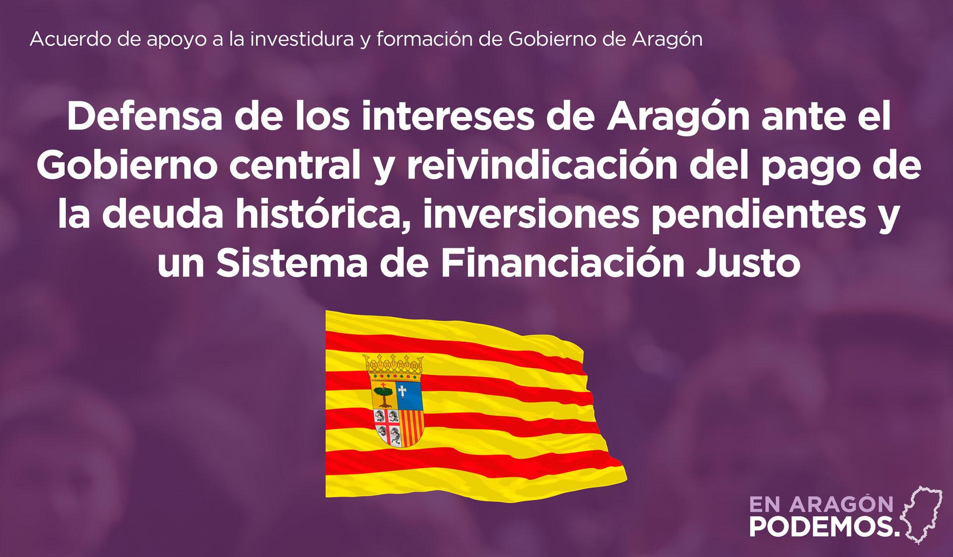 Defensa de los intereses de Aragón ante el Gobiermo de España
