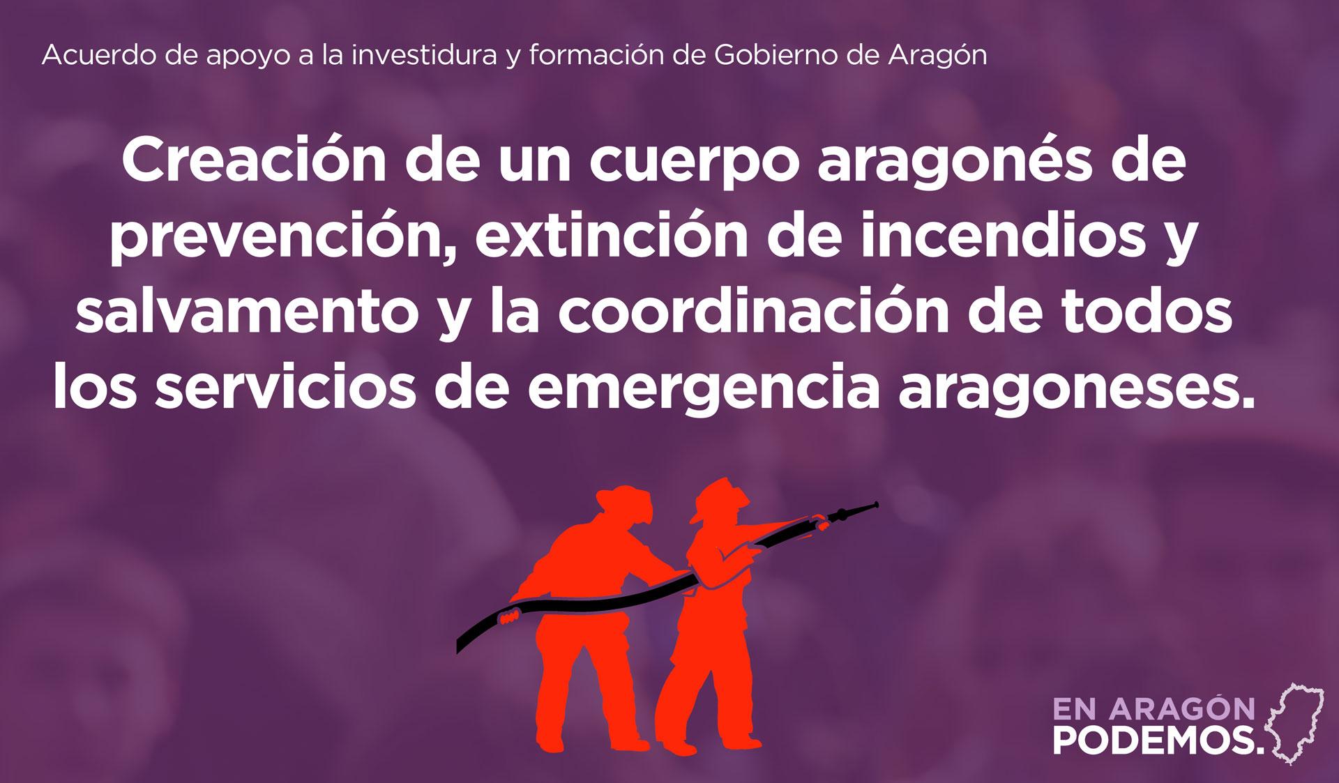 Creación de un cuerpo aragonés de prevención y extinción de incendios