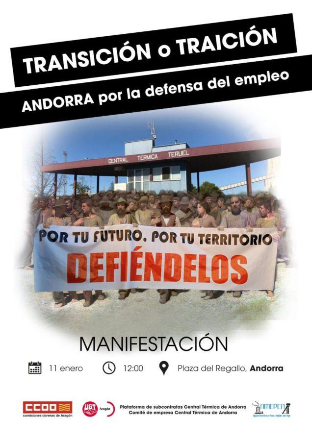 Apoyamos movilización trabajadores central térmica de Andorra